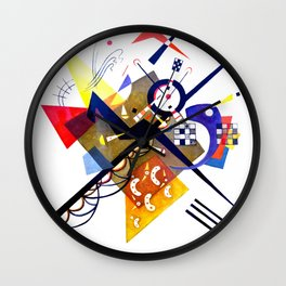 Kandinsky On White II (Auf Weiss) 1923 Artwork Reproduction, Design for Posters, Prints, Tshirts, Me Wall Clock