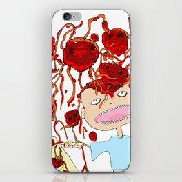 Mom! I don't like meatballs iPhone Skin