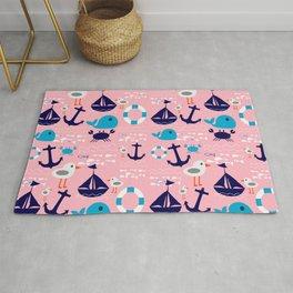 Summer boat pink Rug