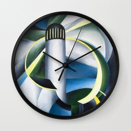 Variation on a Lighthouse landscape painting by Ida O'Keeffe Wall Clock