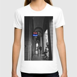 Bar Tabacchi in Bologna Black and White Color Splash Photography T-shirt