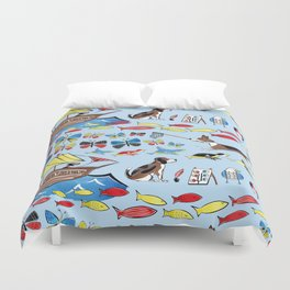The Voyage of the Beagle Duvet Cover