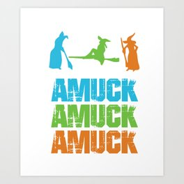 Amuck Magical Words Witches Halloween Party Shirt Art Print
