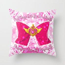 Crisis Moon Compact Throw Pillow