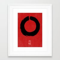 buddhism Framed Art Prints featuring ENSO IN JAPAN by THE USUAL DESIGNERS