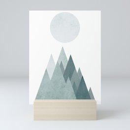 Mid Century Scandinavian Mountain Mini Art Print