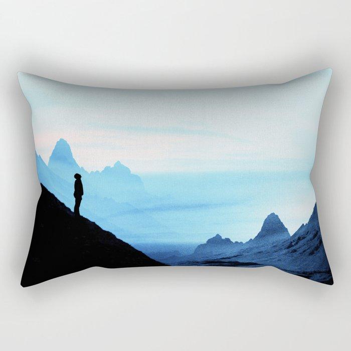 Blue Wasteland Isolation Rectangular Pillow