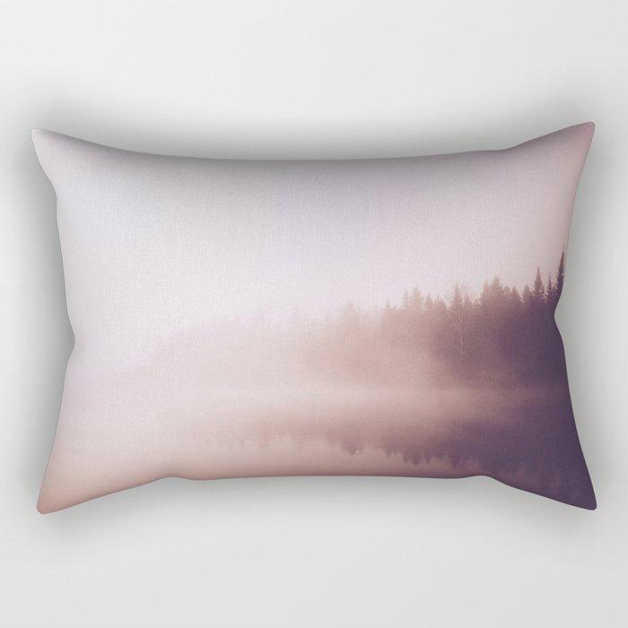 Fog #forest Rectangular Pillow