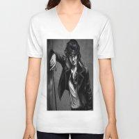 charlie chaplin V-neck T-shirts featuring Charlie Chaplin by Monashka
