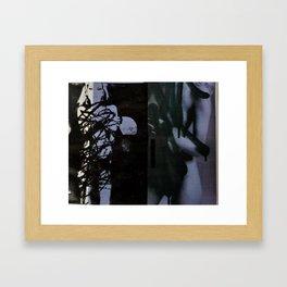 Defaced Kate Framed Art Print