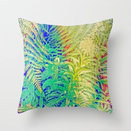 Fern and Fireweed 01 Throw Pillow