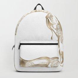 Bull Skull Gold Backpack