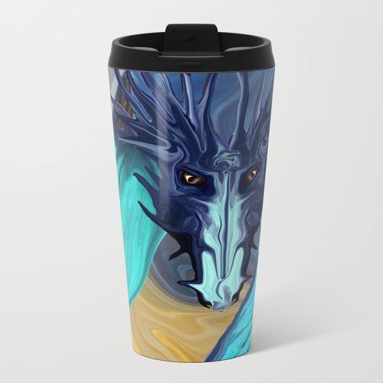 Sapphire Blaze Across the Canyon Metal Travel Mug