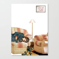 alcohol Canvas Prints featuring Habits / Alcohol by semlinear