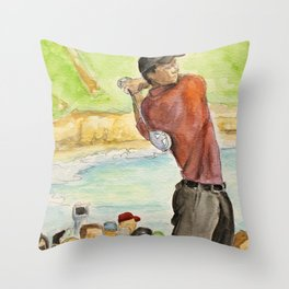 Tiger Woods_Professional golfer Throw Pillow