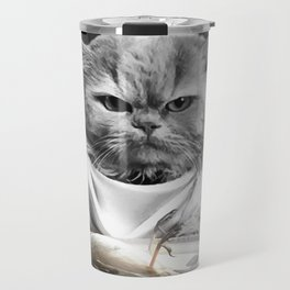 Diner Cat Travel Mug