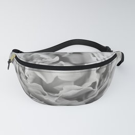 Petals of a Peony in Black and White Fanny Pack
