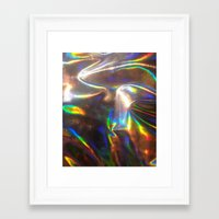 holographic Framed Art Prints featuring Holographic by viviennart