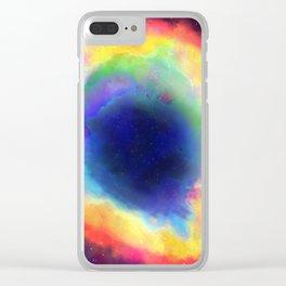 Donut Nebula Clear iPhone Case