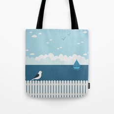 Sitting on the Fence Tote Bag
