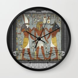 egyptiannewsprint Wall Clock