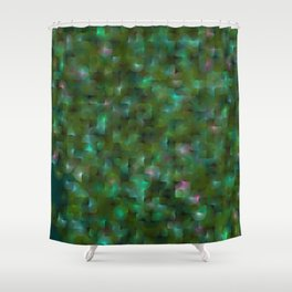 Chameleonic Written Circles - Colours from Chameleon by Ben Geiger Shower Curtain