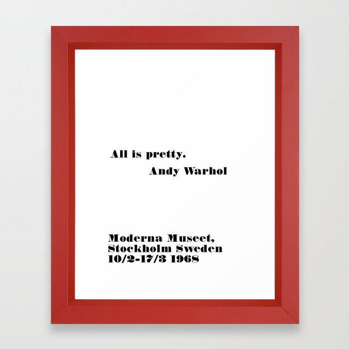 all is pretty Framed Art Print