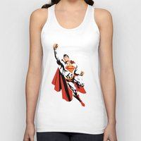 dc Tank Tops featuring DC - Superman by TracingHorses