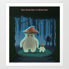 Take Your Kid To Work Day Art Print