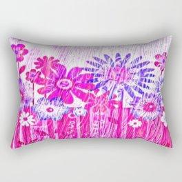 Blossoming Spring Flowers Rectangular Pillow