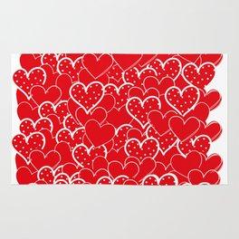 Valentine's background Rug