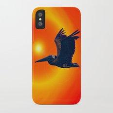 Sunset Pelican iPhone X Slim Case