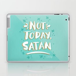Not Today, Satan – Mint & Gold Palette Laptop & iPad Skin