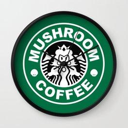 Super Mario's Mushroom Coffee Wall Clock