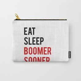 "Funny wall art ""Eat Sleep Boomer Sooner"" Study Poster Teen Room Decor Printable Quote Funny Poster P Carry-All Pouch"