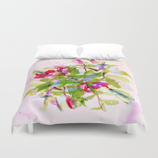 watercolors abstract bouquet Duvet Cover