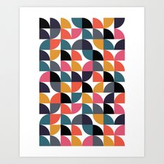 Quarter pattern Art Print