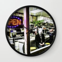 Rabbit & The Fox - 4AM Diner Wall Clock