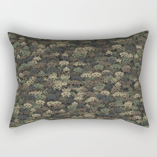 Invaders camouflage Rectangular Pillow