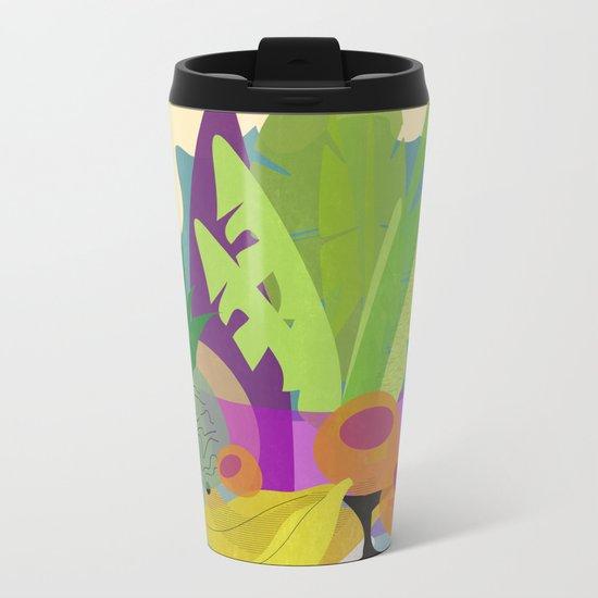 Tropical Breakfast Metal Travel Mug