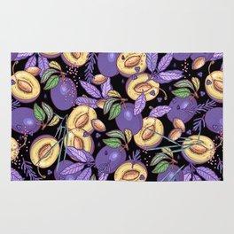 Purple plum garden. Rug