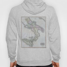 Vintage Map of Southern Italy (1814) Hoody