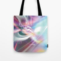 1984 Tote Bags featuring Disco 1984 by Palm Street Gallery
