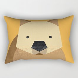 Whimsy Wombat Rectangular Pillow