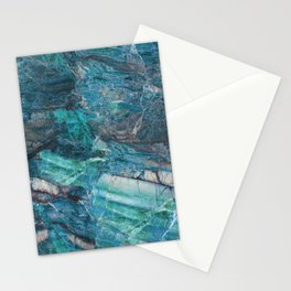 The Blues - Blue Natural Marble Pattern Stationery Cards