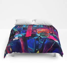 Altered Carbon - Poe Armed and Ready (Chris Conner) Comforters