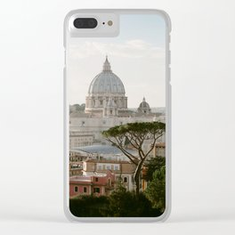 St. Peter's Basilica at Sunset Clear iPhone Case