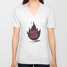 Burn It All Down Unisex V-Neck