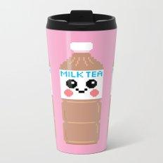 Happy Pixel Milk Tea Metal Travel Mug