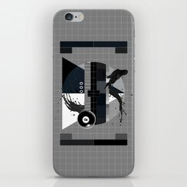 Waiting for the show to begin (Test Pattern 2) iPhone Skin